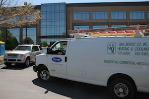 Delivering commercial Carrier HVAC system