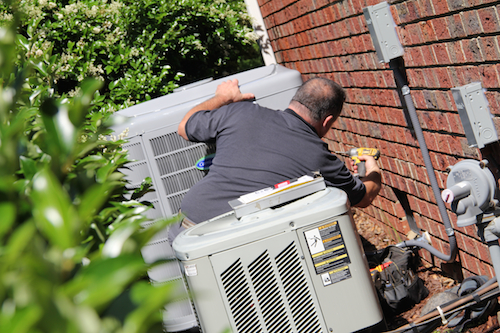 Performing home HVAC inspection